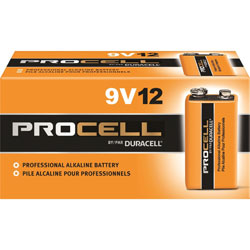 Duracell PC1604BKD Procell Alkaline Battery, 9V