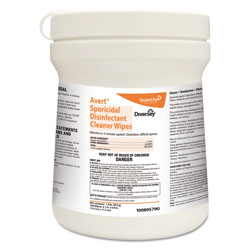 Diversey Avert Sporicidal Disinfectant Cleaner Wipes, Chlorine, 6 x 7, 160/Can, 12/Carton