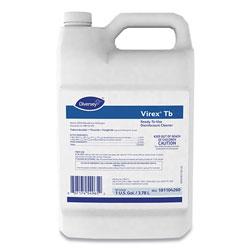 Diversey Virex TB Disinfectant Cleaner, Lemon Scent, Liquid, 1 Gallon Bottle, 4/Carton