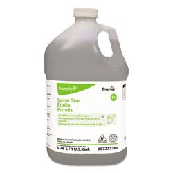 Suma® Star D1 Hand Dishwashing Detergent, Unscented, 1 gal Bottle, 4/Carton
