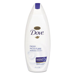 Dove Body Wash Deep Moisture, 12 oz Bottle, 6/Carton