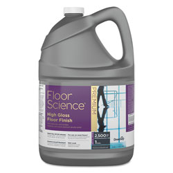 Diversey Floor Science Premium High Gloss Floor Finish, Clear Scent, 1 gal Container
