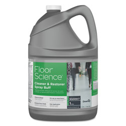 Diversey Floor Science Cleaner/Restorer Spray Buff, Citrus Scent, 1 gal Bottle, 4/Carton