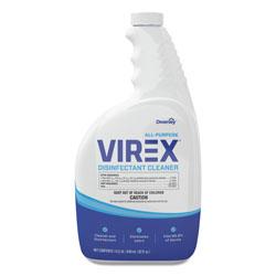 Diversey Virex All-Purpose Disinfectant Cleaner, Lemon Scent, 32oz Spray Bottle, 4/Carton