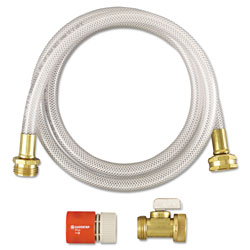 Diversey RTD Water Hook-Up Kit, Switch, On/Off, 3/8 dia x 5ft, 12 Kits/Carton
