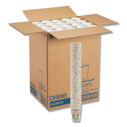 Dixie Hot Cups, Paper, 8oz, Coffee Dreams Design, 1000/Carton