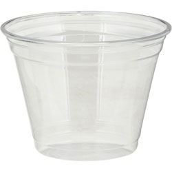 Dixie Clear Plastic PETE Cups, Cold, 9oz, Squat, 50/Sleeve, 20 Sleeves/Carton