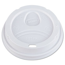 Dixie Dome Drink-Thru Lids, Fits 10, 12, 16oz Paper Hot Cups, White, 1000/Carton