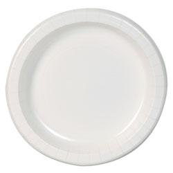 Dixie Basic Paper Dinnerware, Plates, White, 8.5 in Diameter, 125/Pack, 4/Carton