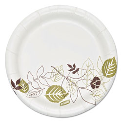 Dixie Pathways Soak Proof Shield Heavyweight Paper Plates, 5 7/8 in dia, 125/Pack