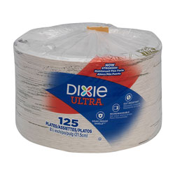 Dixie Pathways Soak Proof Shield Heavyweight Paper Plates, 8 1/2 in, 125/Pack