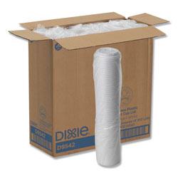 Dixie Reclosable Lids for 12 & 16oz Hot Cups, White, 100 Lids/Pack, 10 Packs/Carton