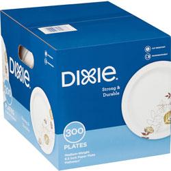 Dixie Pathways Soak-Proof Shield Medium Wt Paper Plates, 8 1/2 in, Dispenser Box, 600/Ct