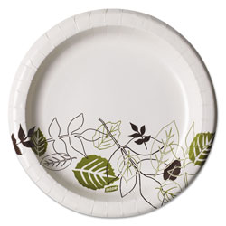 Dixie Pathways Soak-Proof Shield Mediumweight Paper Plates, 8 1/2 in, Pathway, 125/Pack