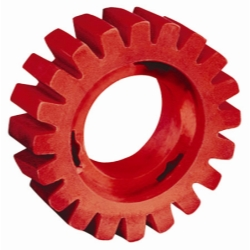 Dynabrade 4 in Diameter x 1-1/4 in Wide RED-TRED Eraser Wheel