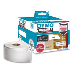 Dymo LW Durable Multi-Purpose Labels, 1 in x 3.5 in, White, 700/Roll
