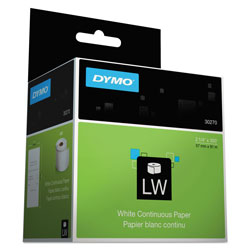 Dymo LabelWriter Continuous-Roll Receipt Paper, 2.25 in x 300 ft, White