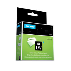 Dymo LabelWriter Return Address Labels, 0.75 in x 2 in, White, 500 Labels/Roll