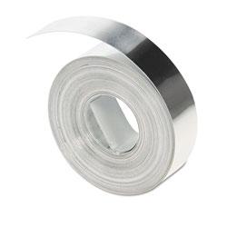 Dymo Rhino Metal Label Non-Adhesive Tape, 0.5 in x 16 ft, Aluminum
