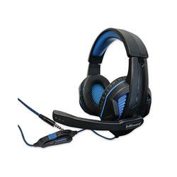 Billboard® Gaming Headsets, Binaural, Over the Head, Black/Blue