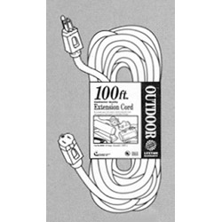 Coleman Cable 02309 100' Round Orange 300 Volt Extension Cord