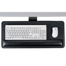 "Ergonomic Concepts Articulating Keyboard/Mouse Platform, 27""x12""x3/4"", Black"