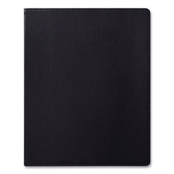 Eccolo Simple Faux Leather Journal, Black, 8 x 10, 256 Ivory Pages