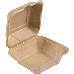 Bridge-Gate Hinged Food Container, 6 in, Natural