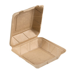 Bridge-Gate Hinged Food Container, 9 in, Natural
