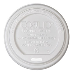 Eco-Products EcoLid Renewable/Compostable Hot Cup Lid, PLA, Fits 10-20 oz Hot Cups, 50/Pack, 16 Packs/Carton
