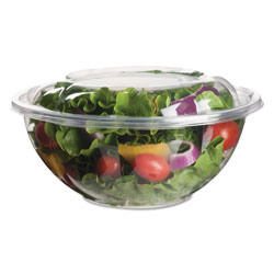 Eco-Products Renewable and Compostable Salad Bowls with Lids - 24 oz, 50/Pack, 3 Packs/Carton