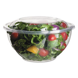 Eco-Products Renewable and Compostable Salad Bowls with Lids - 32 oz, 50/Pack, 3 Packs/Carton