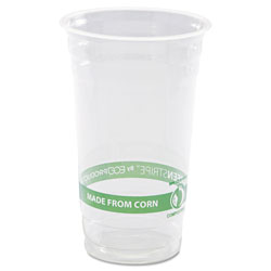 Eco-Products GreenStripe Renewable & Compostable Cold Cups - 24oz., 50/PK, 20 PK/CT