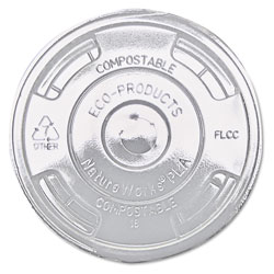 Eco-Products GreenStripe Renewable & Compost Cold Cup Flat Lids, F/9-24oz., 100/PK, 10 PK/CT
