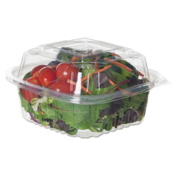 Eco-Products Renewable and Compostable Clear Clamshells, 6 x 6 x 3, 80/Pack, 3 Packs/Carton
