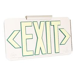LumAware Photoluminescent Mirrored Finish Exit Sign, UL 924 Listed