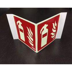 LumAware Fire Extinguisher Sign, 8.25 in x 8.25 in