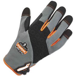Ergodyne ProFlex 710 Heavy-Duty Utility Gloves, Gray, X-Large, 1 Pair