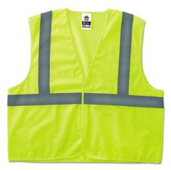Ergodyne GloWear 8205HL Type R Class 2 Super Econo Mesh Safety Vest, Lime, Small/Medium