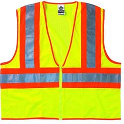 Ergodyne Two-Tone Vest, CLS-2, L/XL, Lime