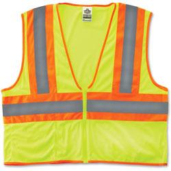 Ergodyne Two-Tone Vest, CLS-2, 2XL/3XL, Lime