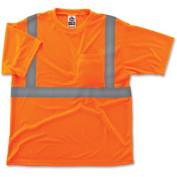 Ergodyne Class 2 Reflective T-Shirt, Small, Orange