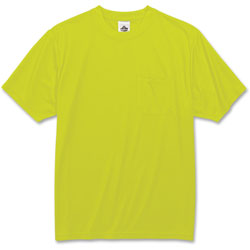 Ergodyne Non-Certified T-Shirt, 3XLarge, Lime