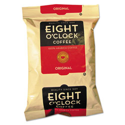 Eight O'Clock Regular Ground Coffee Fraction Packs, Original, 2 oz, 42/Carton