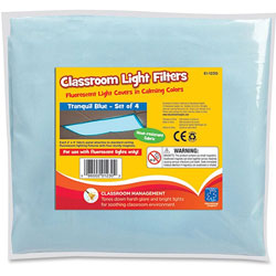 Educational Insights Classroom Light Filters, 4-Set, Tranquil Blue