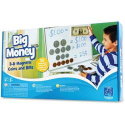 Educational Insights Big Money 3-D Magnetic Coins/Bills,