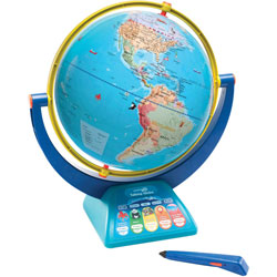 Educational Insights Globe w/Talking Pen, 12 in, 360-degree Views, 3 Modes
