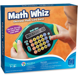 Educational Insights Math Whiz Electric Flash Card Game, Ages 6 Up