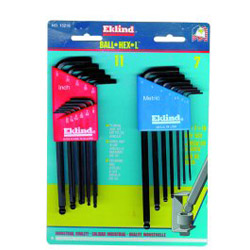 Eklind 18 Piece Ball End 13211/13607 Combo Hex Key Set