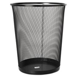 Rolodex Round Plastic Desk Wastebasket, Black